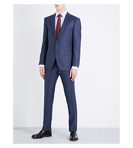 BOSS Slim-fit wool suit (Navy
