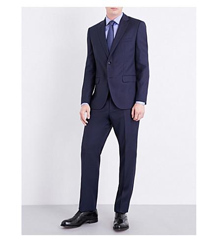 BOSS Regular-fit birdseye wool suit (Navy