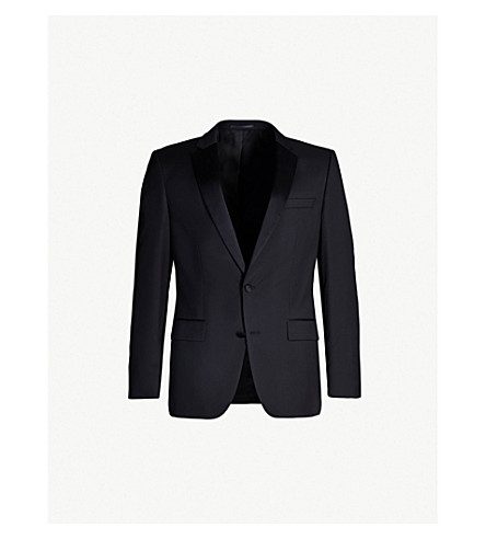 BOSS Slim-fit single-breasted wool jacket (Black