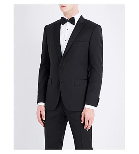 BOSS Slim-fit single-breasted wool jacket (Black