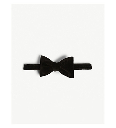 HUGO Velvet bow tie (Black
