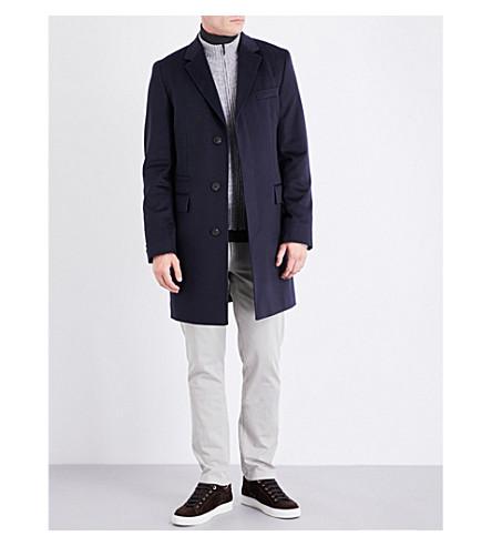BOSS Cashmere coat (Dark+blue