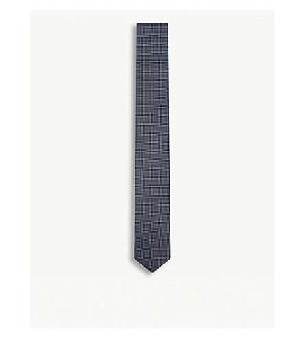 BOSS 钻石丝绸领带 (亮 + 蓝