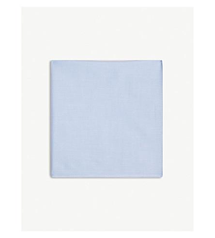 HUGO Solid pique-cotton pocket square (Light/pastel+blue