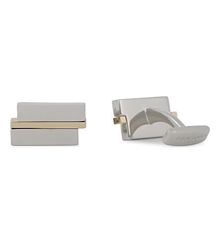 BOSS Logo rectangular cufflinks (Silver