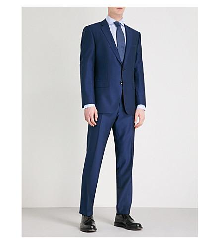 BOSS Tailored-fit wool suit (Dark+blue