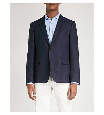 BOSS Tailored-fit wool jacket (Navy
