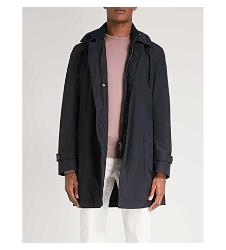 BOSS Double-collar shell coat (Navy