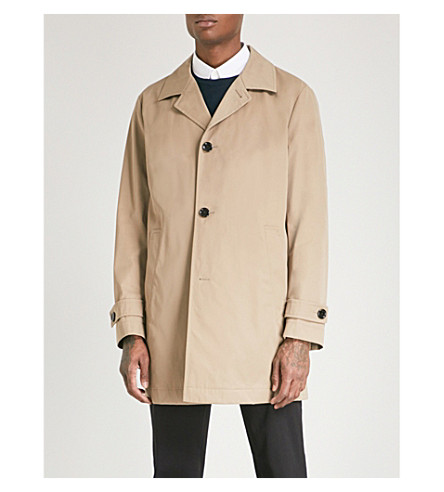 BOSS Single-breasted woven coat (Medium+beige