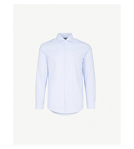 BOSS Slim-fit cotton shirt (Light/pastel+blue