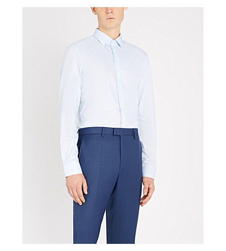 BOSS Boss slim-fit striped cotton shirt (Light/pastel+blue