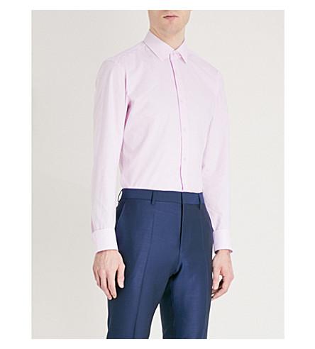 BOSS Slim-fit cotton shirt (Light/pastel+pink