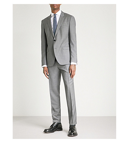HUGO Slim-fit wool suit (Grey