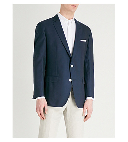BOSS Regular-fit wool suit jacket (Navy