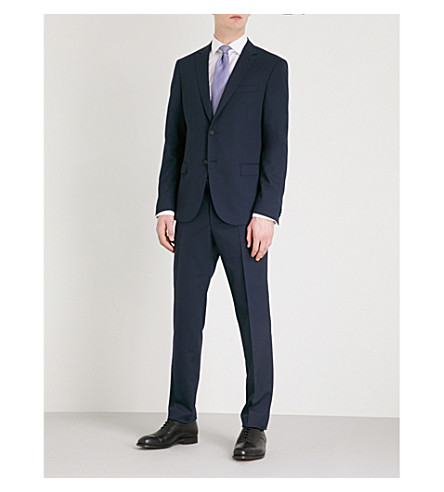 BOSS Tailored-fit wool-blend suit (Navy