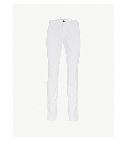 BOSS Slim-fit stretch-cotton chinos (White
