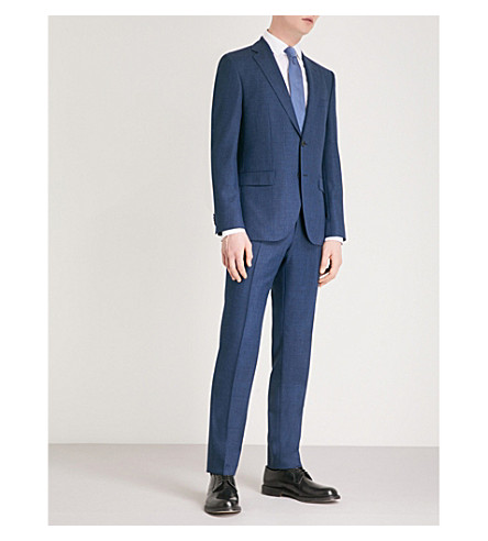 BOSS Tailored-fit wool suit (Navy