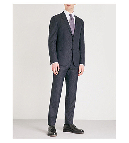 BOSS Slim-fit wool-blend suit (Navy