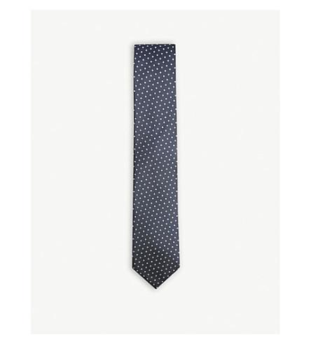 BOSS Tonal dot pattern tie (Light/pastel+blue