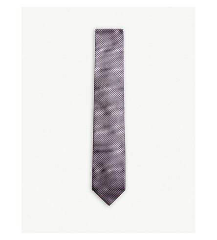 BOSS Jagged striped silk tie (Light/pastel+pink