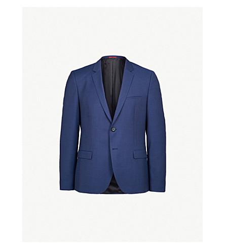 HUGO Slim-fit textured blazer (Open+blue