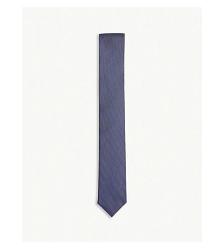BOSS Pin dot print silk tie (Navy