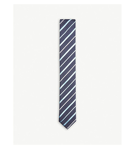 BOSS Twin striped silk tie (Light/pastel+blue
