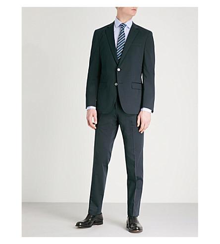 BOSS Slim-fit stretch-cotton suit (Dark+blue