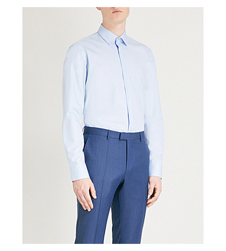BOSS Regular-fit cotton shirt (Light/pastel+blue
