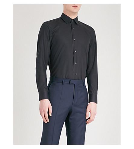 BOSS Regular-fit cotton shirt (Dark+blue