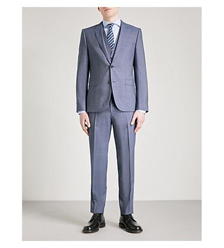 HUGO Tailored-fit wool suit (Medium+blue