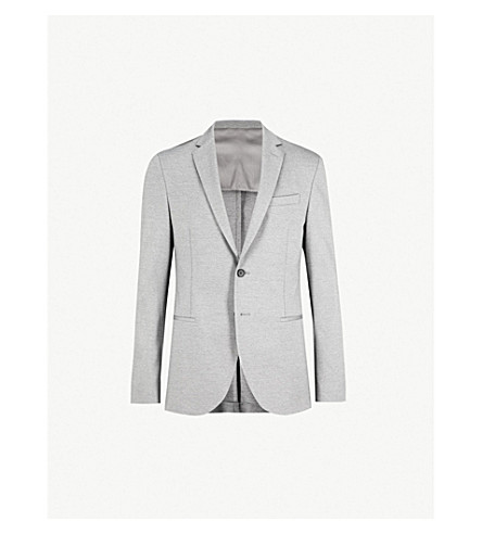 BOSS Regular-fit stretch-cotton jacket (Medium grey