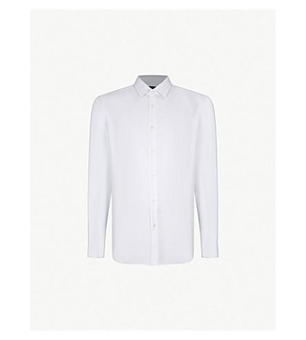 BOSS Regular-fit cotton shirt (White