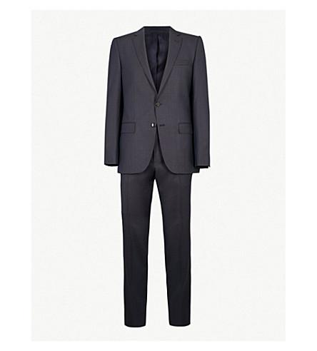 BOSS Tailored-fit wool suit (Open+blue