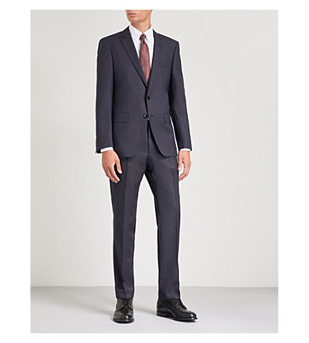 BOSS Tailored-fit wool suit (Open+blue