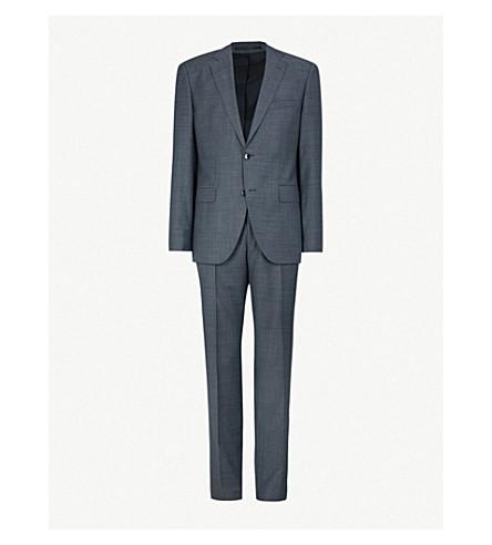 BOSS 常规版型羊毛西服 (暗 + 蓝