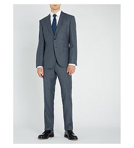 BOSS Regular-fit wool suit (Dark+blue