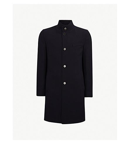 BOSS Buttoned wool coat (Open+blue