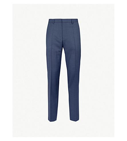 BOSS 修身版型羊毛锥形裤子 (暗 + 蓝