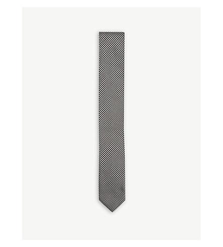 BOSS 一种赤莲真丝领带 (黑色