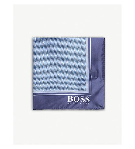 BOSS Pindot 型真丝口袋广场 (亮 + 蓝)