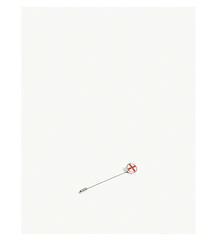 BOSS英国国旗别针胸针 (银色