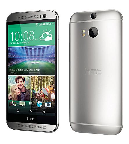 htc htc 一 M8 智能手机 M8, 银色 (银色