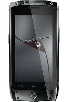TONINO LAMBORGHINI TL-66 black with red leather smartphone
