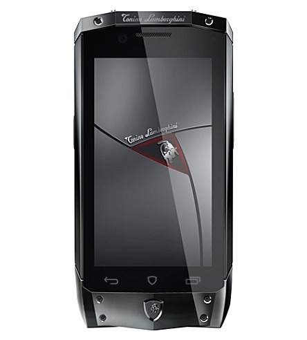 TONINO LAMBORGHINI TL-66 black with red leather smartphone (Black