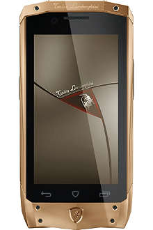 TONINO LAMBORGHINI TL-66 rose gold with brown leather smartphone