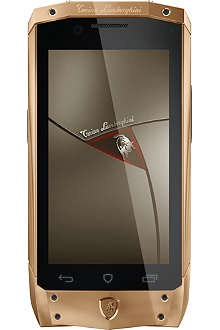 TONINO LAMBORGHINI TL-66 rose gold with black leather smartphone