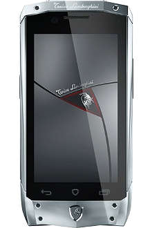 TONINO LAMBORGHINI TL-66 silver with black leather smartphone