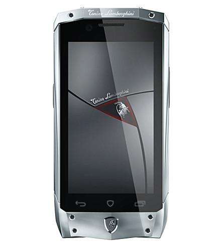 TONINO LAMBORGHINI TL-66 silver with black leather smartphone (Silver