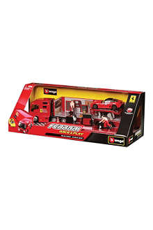 BURAGO Ferrari Race & Play Racing Hauler set